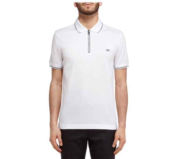 Zip front polo