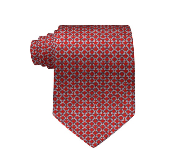 Interlocking Gancini Printed Tie