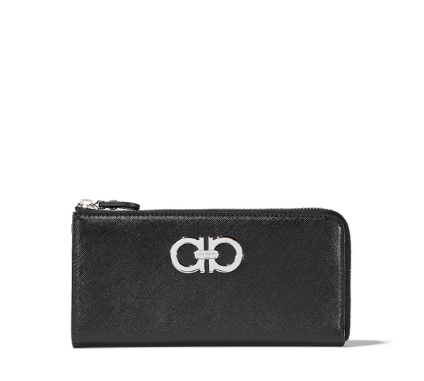 Double Gancio Zip Around Wallet