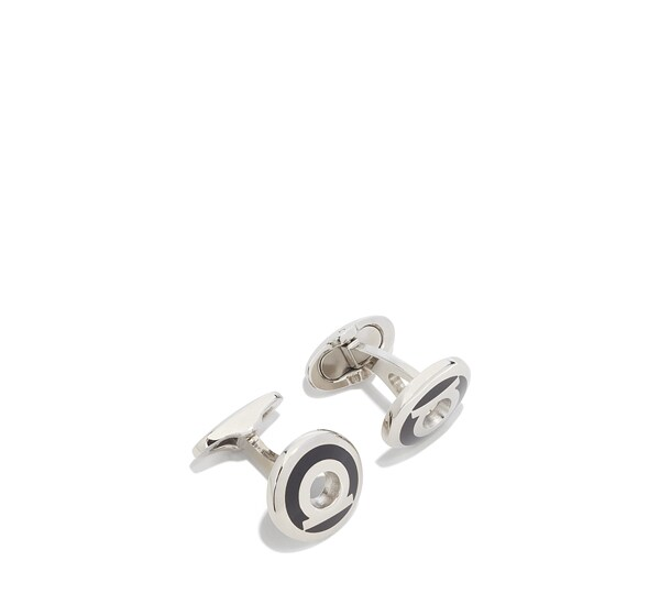 Circular Cufflink with Center Cut Out Gancio