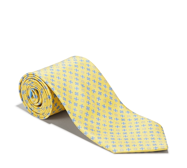 Flower and Rotating Gancini Printed Tie