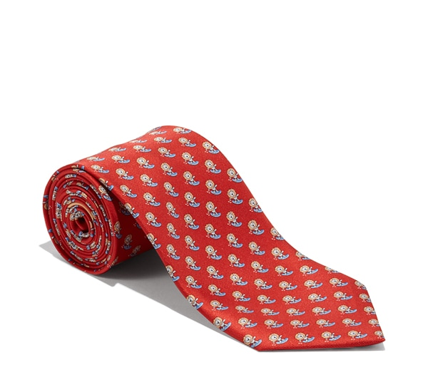 Lion on Surfboard Printed Tie