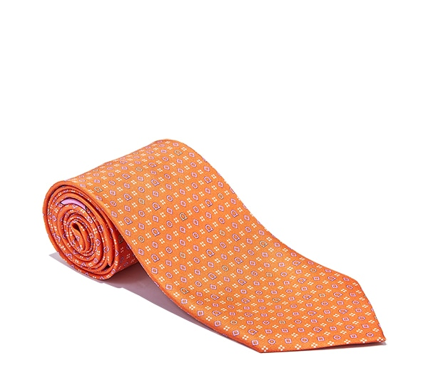 Gancini and Diamond Printed Tie