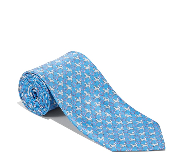 Horse and Horseshoe Printed Tie