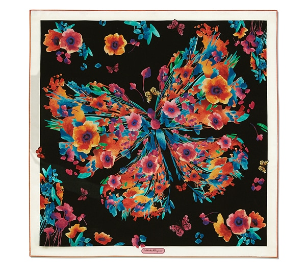 Floreal Butterfly Printed Scarf