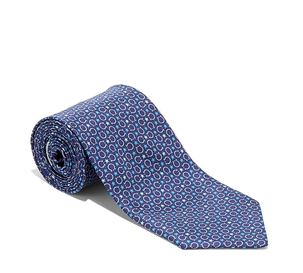 Gancini and Stars Printed Tie