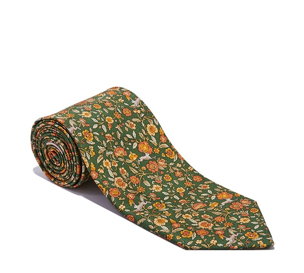 Rabbit Tapestry Printed Tie