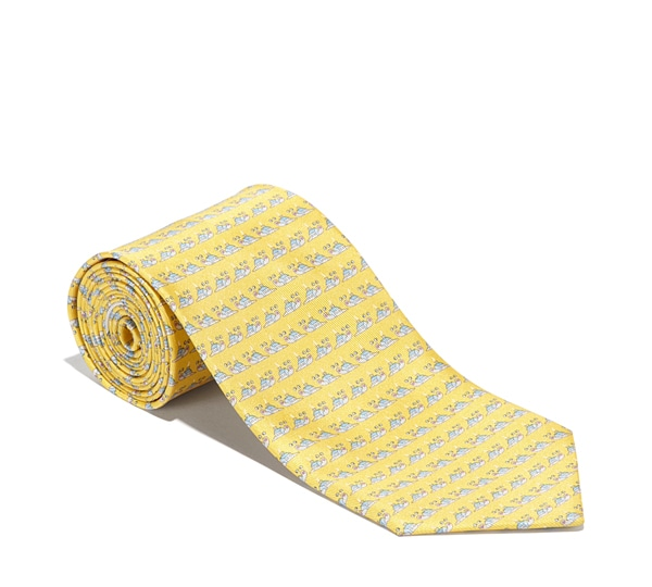 Snail in House Printed Tie