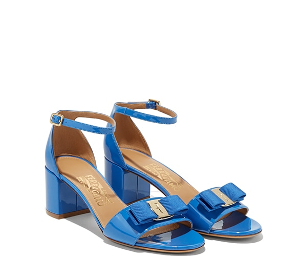 Ankle-Strap Sandal with Vara Bow