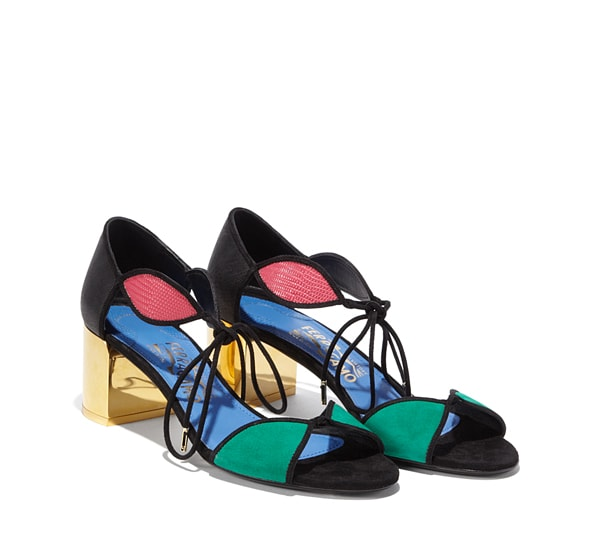 Ankle Strap Multicolored Sandal