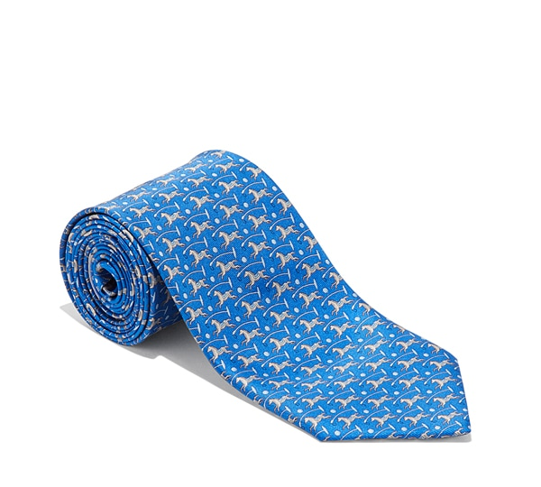 Horse, Polo Mallet, and Ball Printed Tie