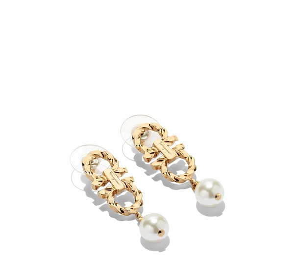 Double Gancio and pearl earrings