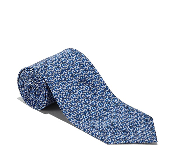 Woven Rope and Gancini printed tie