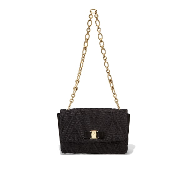 Quilted Chevron Vara Flap Bag