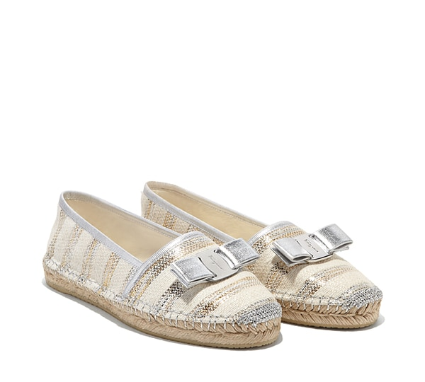 Espadrille shoe with Vara bow
