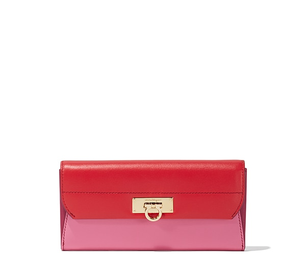 Colorblocked Gancio Bar Continental Wallet