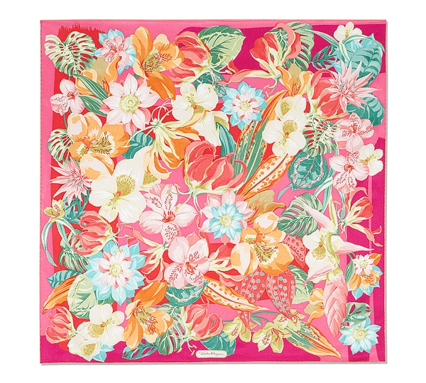 Hibiscus Flowers Print Scarf