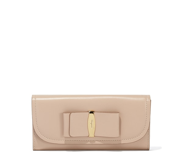 Oversized Vara Bow Continental Wallet