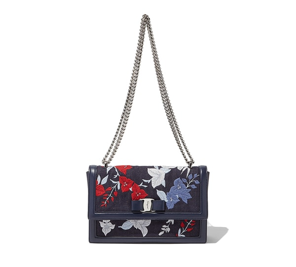 Floral Vara Flap Bag