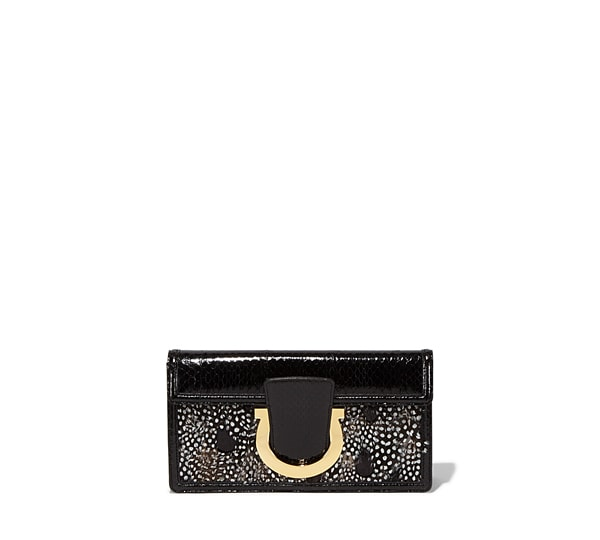Capsule collection feather clutch