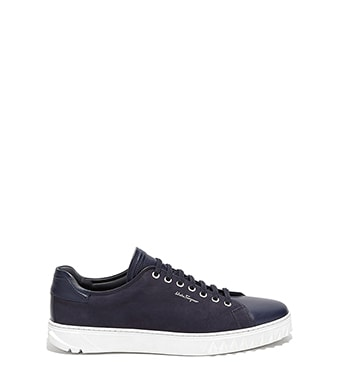 Sneakers for Men On Sale in Outlet, Monroe, Black, Leather, 2017, 5 Salvatore Ferragamo