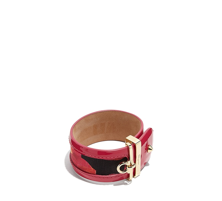 Gancini Silk Cuff by Salvatore Ferragamo