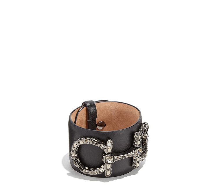 Gancini Leather Bracelet by Salvatore Ferragamo