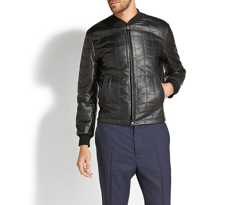 Leather Blouson | Tuggl