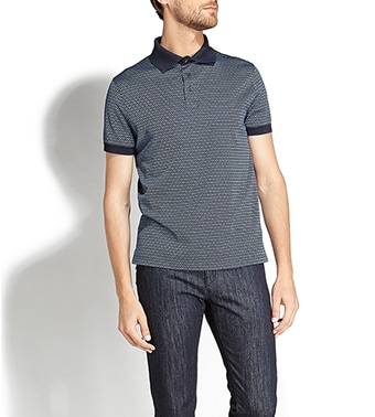 printed polo shirt - Blue Salvatore Ferragamo