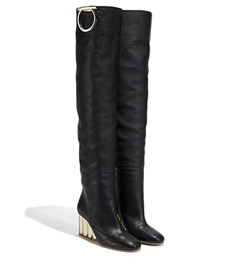 Oversize Gancini Slouch Boot