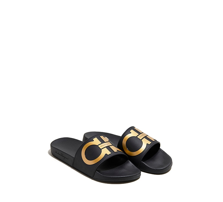 31f74cf9eaa1 Gancini Slide Sandal - Sandals - Shoes - Men - Salvatore Ferragamo US