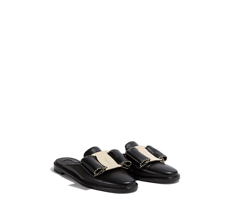 Vara Bow Mule Slipper Shoe by Salvatore Ferragamo