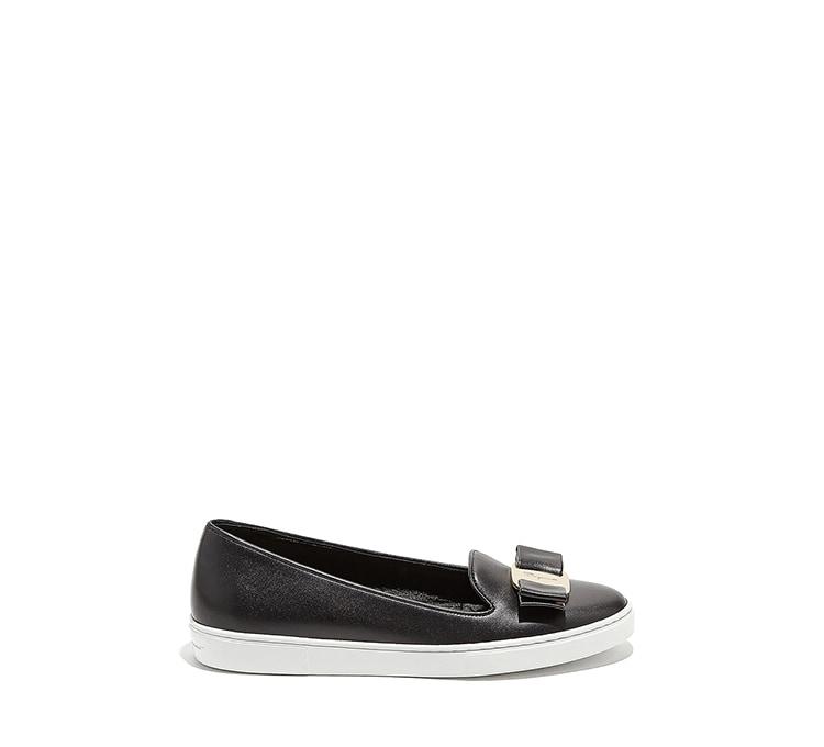 Vara Bow Slip On Sneaker Shoe by Salvatore Ferragamo
