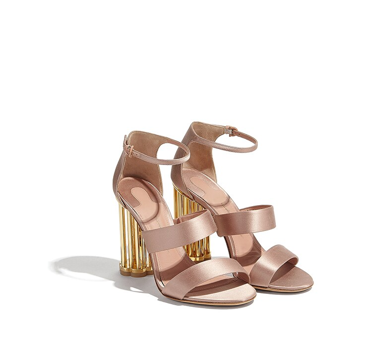 Cage Flower Heel Sandal by Salvatore Ferragamo