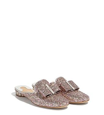 Flower Heel Mule Slipper Shoe
