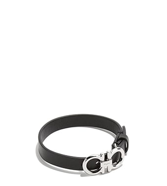 Gancini Leather Bracelet