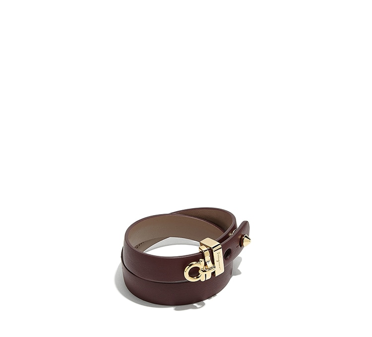 Gancini Leather Wrap Bracelet by Salvatore Ferragamo