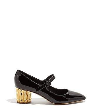 ca31996e4 Faceted Flower heel Mary Jane