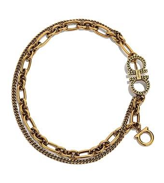 fa1eb0835e92 Collar de cadena Gancini